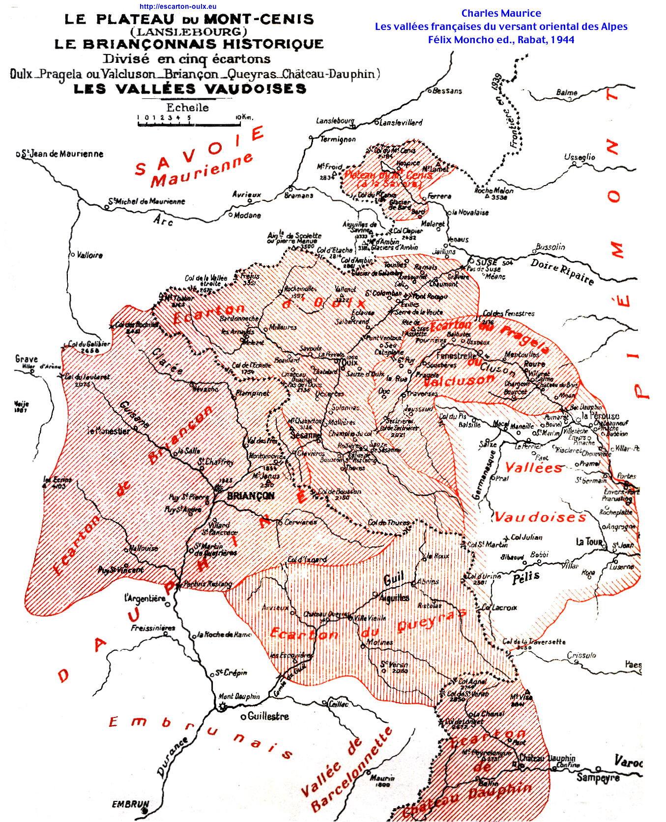 Escarton d'Oulx Geografia